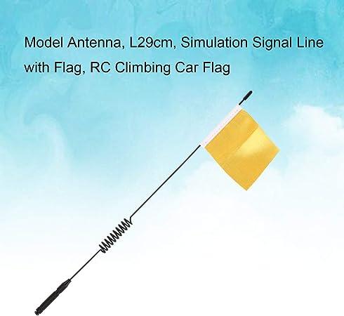 XZANTE 1Pcs Antenne Mod/èLe Ligne De Signal De Simulation L29cm avec Drapeau pour Accessoires De Pi/èCe De D/éCoration De Voiture descalade TRX4 RC Rouge