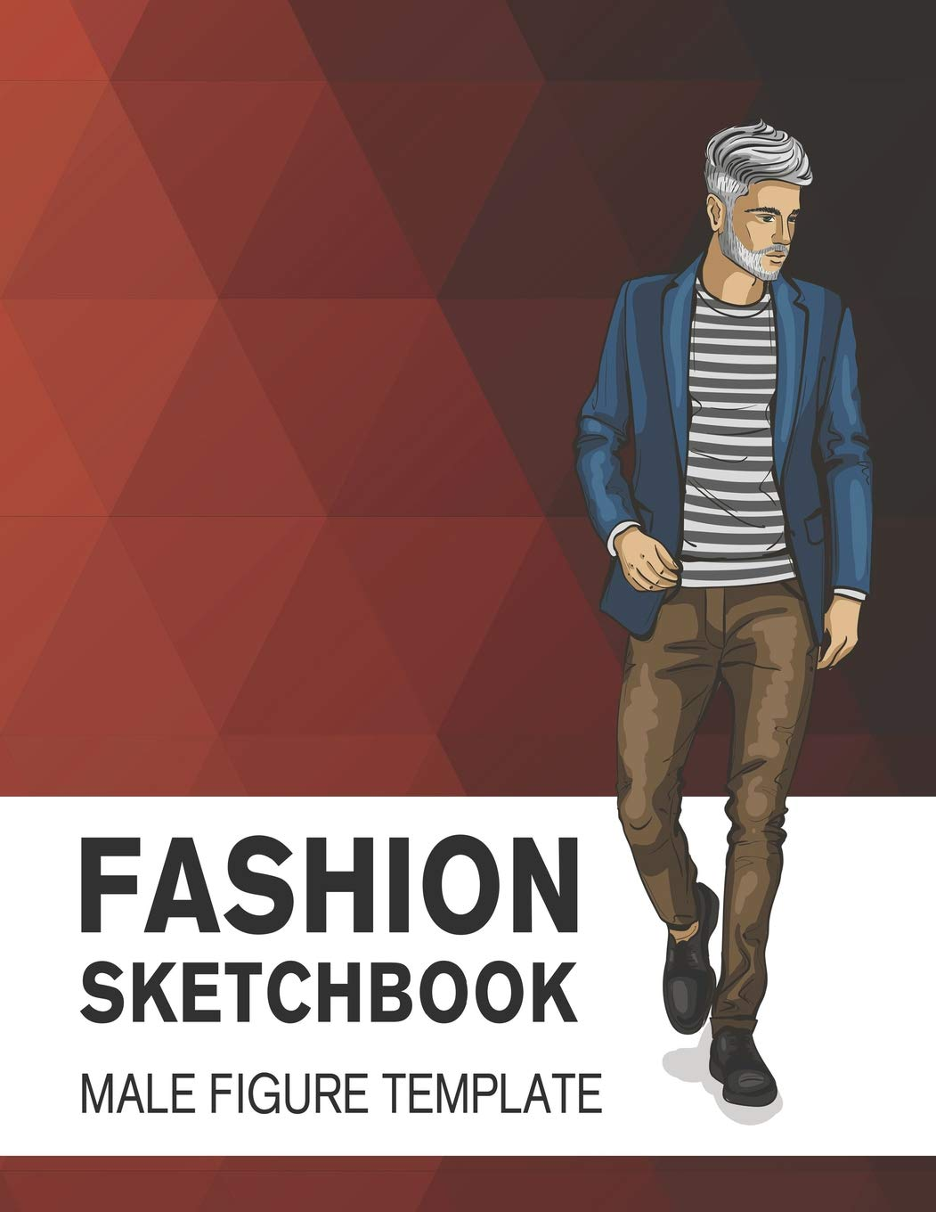Fashion Sketchbook Male Figure Template Easily Sketch Your Fashion Design With Large Male Figure Template Derrick Lance 9781729486337 Amazon Com Books