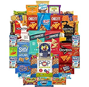 Ultimate Snack Assortment Care Package - Chips, Crackers, Cookies, Nuts, Bars - School, Work, Military or Home (40 Pack)