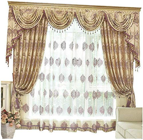 Amazon Com Gold Window Curtains And Valance Set French Country