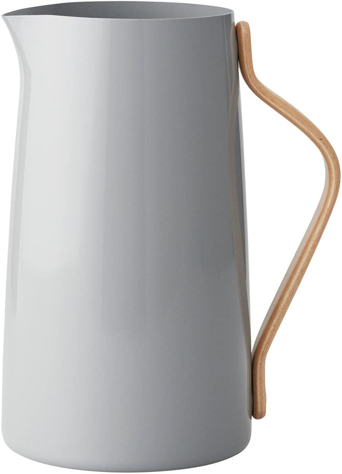 Stelton Emma Pitcher 2l Grey, Stainless Steel 13.5 x 13.5 x 22.5 cm