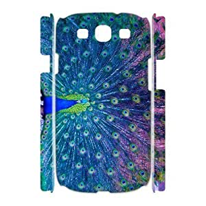 GGMMXO Peacock Shell Phone Case For Samsung Galaxy S3 I9300 [Pattern-1]