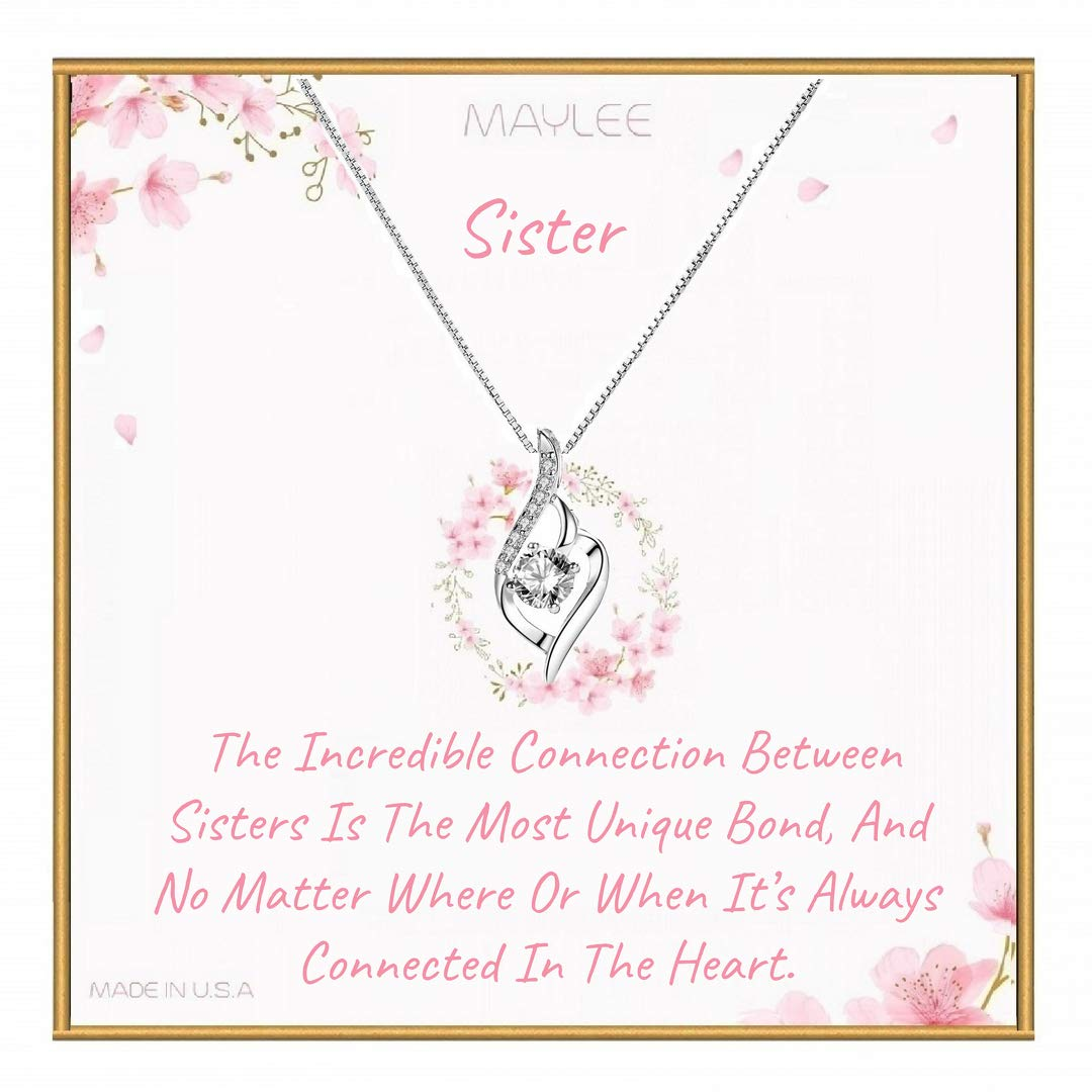 Sister gifts MayLee Gift set for Sister Sister Necklace sister birthday gift