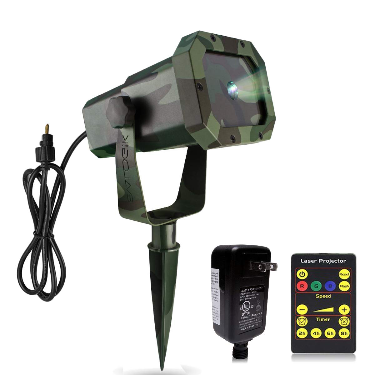 EVA LOGIK Outdoor Waterproof Laser Projector Light, Moving RGB 20 Patterns, with RF Remote Control and Timer, Perfect for Lawn, Party, Garden Decoration by EVA LOGIK