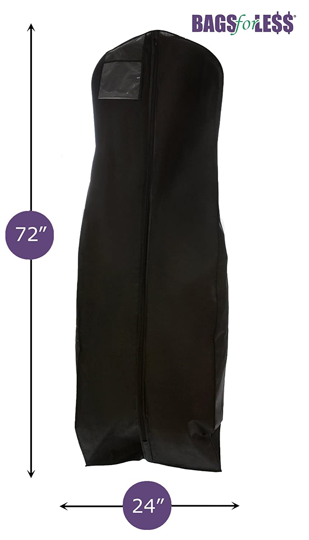 X large wedding gown travel storage garment bag for Storing wedding dress in garment bag