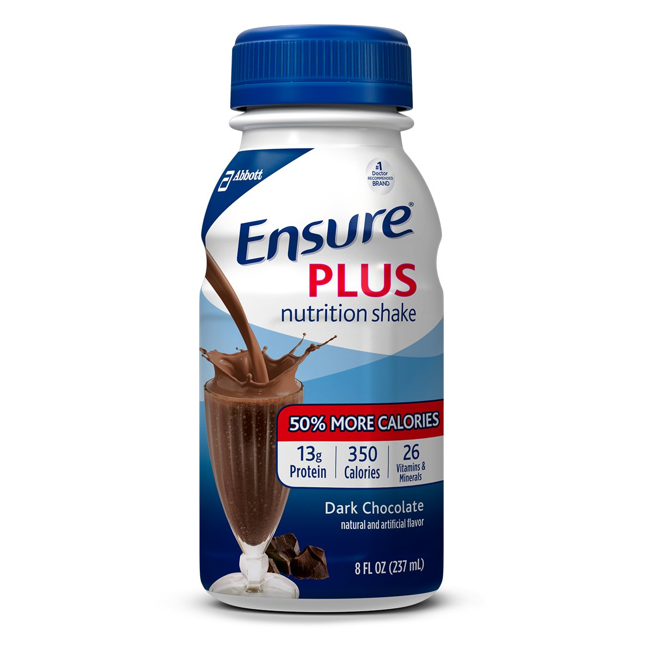 Ensure Plus Nutrition Shake with 13 grams of protein, Meal Replacement Shakes, Dark Chocolate, 8 fl oz (24 Count)