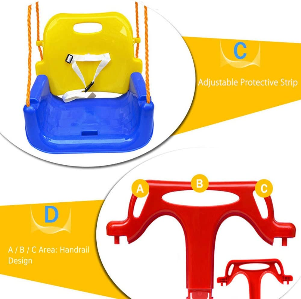 jkbfyt 3 in 1 Multifunctional Baby Swing Hanging Basket Outdoor Kids Toy