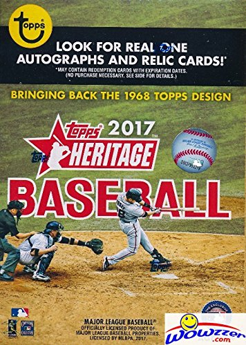 [2017 Topps Heritage MLB Baseball EXCLUSIVE Factory Sealed Retail Box with 8 Packs & 72 Cards! Look for Real One Autographs ,Inserts,Parallels,Relics & More! Celebrate the Classic 1968 Design! WOWZZER!] (Baseball Parallel Card)