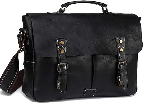 Leather Vintage Messenger Shoulder Men Satchel Laptop Office work Briefcase Bag