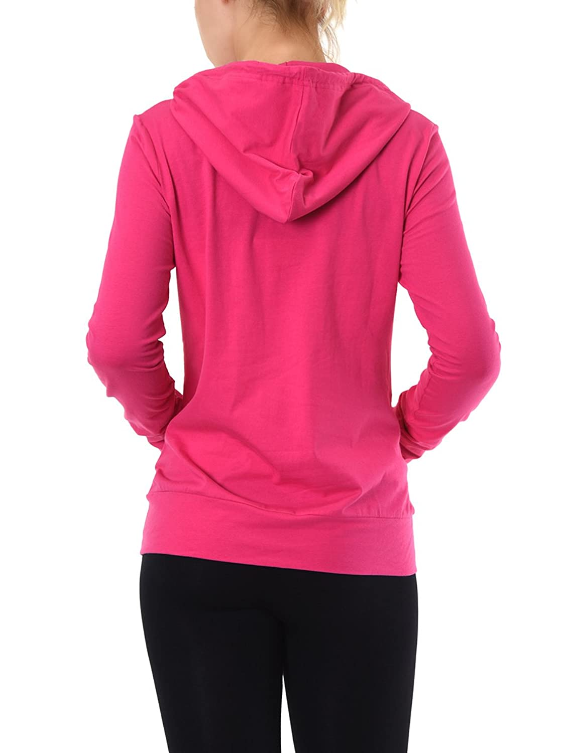 Teejoy Womens Cotton Hoodie Jacket Image 3