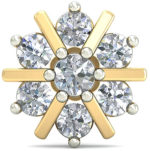 PC Jeweller The Lossane 18KT Yellow Gold & Diamond Nose Pin Nose Rings & Pins at amazon