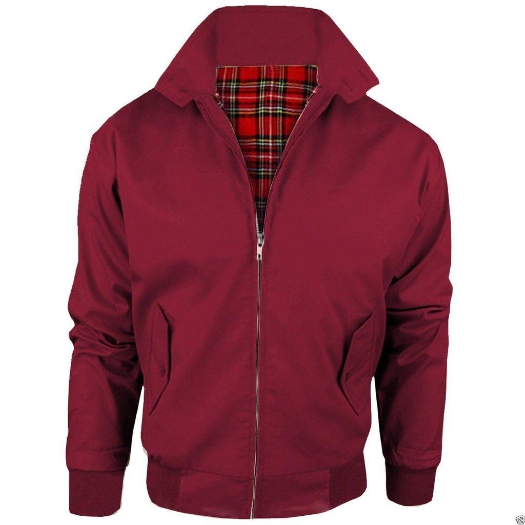 Men's Harrington Classic Vintage Retro 1970's Bomber Mod Jacket Sizes S-XL Fashion Oasis