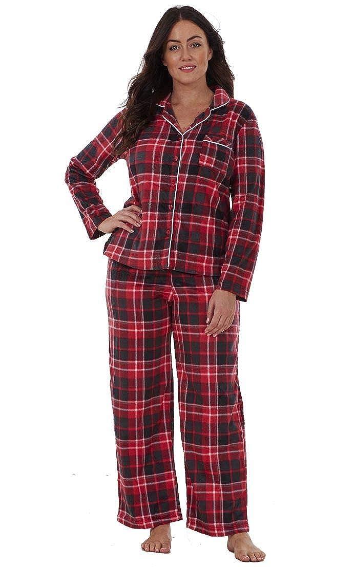 ed876e52c6 Ladies Stunning Printed Fleece Pyjama Set Womens PJ s Winter Warm Nightwea by  Karen Neuburger