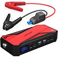 $59 » DBPOWER 800A Peak 18000mAh Portable Car Jump Starter (up to 7.2L Gas/5.5L Diesel Engine)…