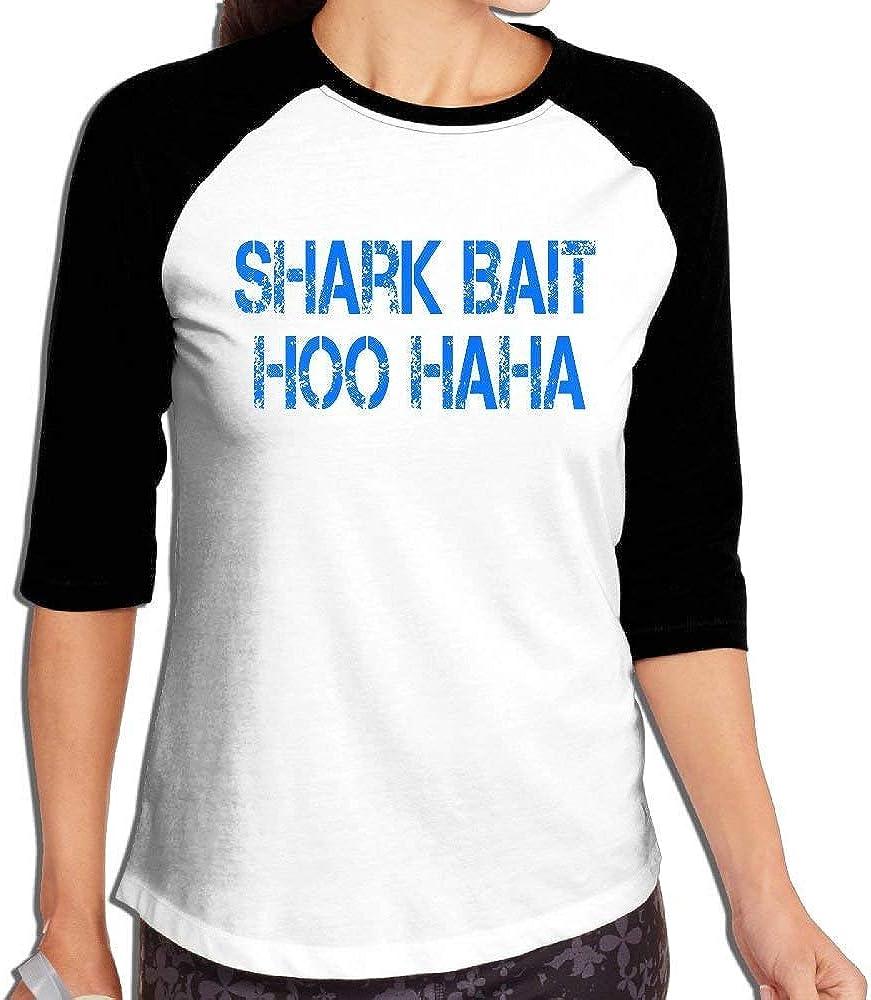 Womens Shark Bait HOO HA HA 3/4 Sleeve Raglan Tee
