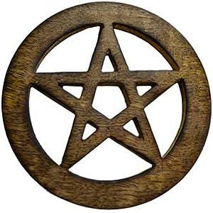 """AzureGreen Pentagram Altar Tile 4"""""""