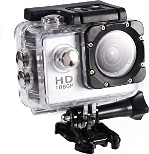 Cámara Deportiva 4K,Videocámara Pantalla Táctil de 2.0 Pulgadas Batería de 900mAh, Gran Angular 90 °, Adecuada para el Buceo de Surf, con Mini DV (Silver)