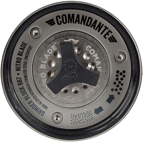Comandante C40 Mk3 Nitro Blade Cobalt Kaffemuhle Edelstahl