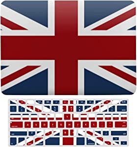 MacBook Air 13 Inch Case(A1369 & A1466, Older Version 2010-2017 Release), Plastic Hard Protective Laptop Case Shell with Keyboard Cover, Union Jack Flag red White and Blue