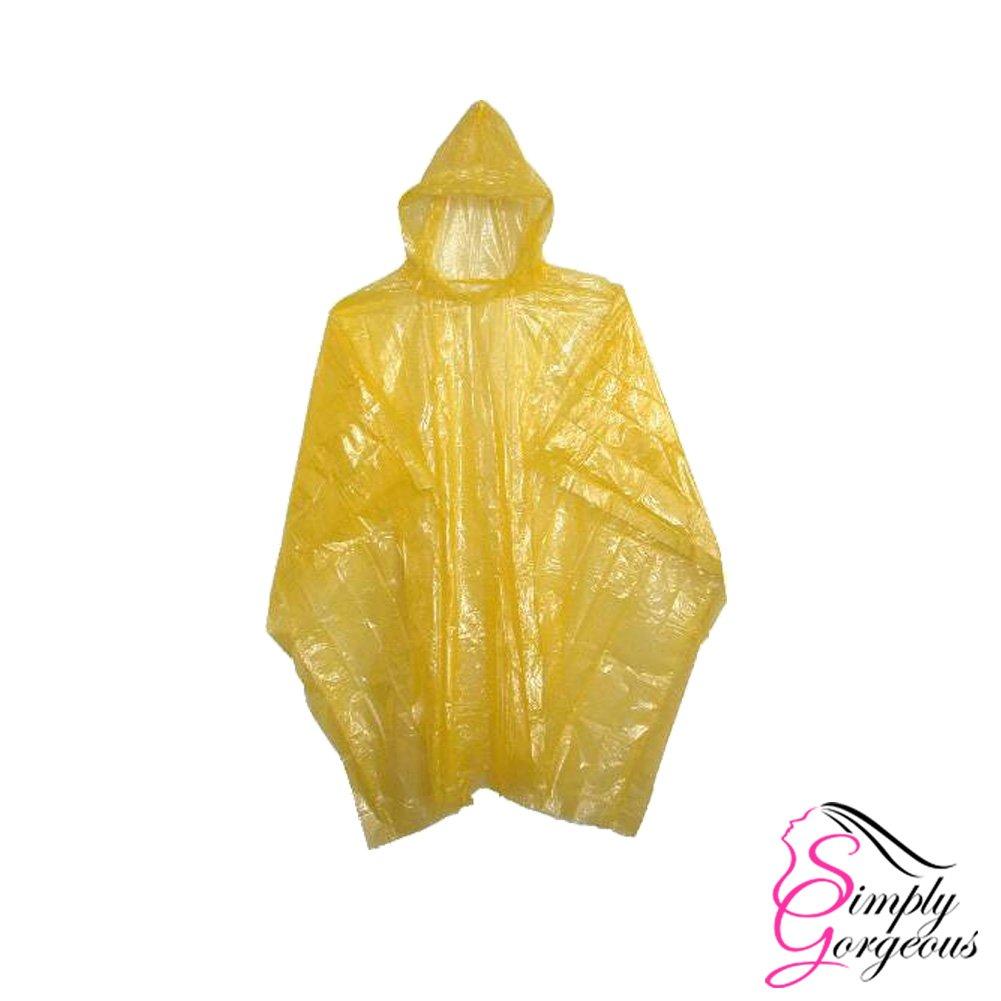 Emergency Waterproof Rain Poncho - Yellow