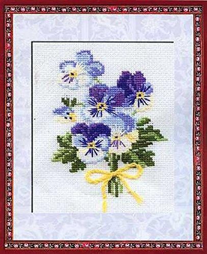 "RIOLIS Violas Counted Cross Stitch Kit, 5"" by 6.25"""
