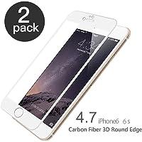 iPhone 6/6S Panzerglas, aiMaKE 2 Stück Ultra-klar Panzerglas Schutzfolie für iPhone 6/6s 4,7 Zoll (nur 0,33 mm Weiß )