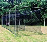 JONES-SPORTS 42PLY MEDIUM DUTY #24 BATTING CAGE WITH FRAME KIT FOR BASEBALL, SOFTBALL, BACKYARD SPORTS (10 X 12 X 50)