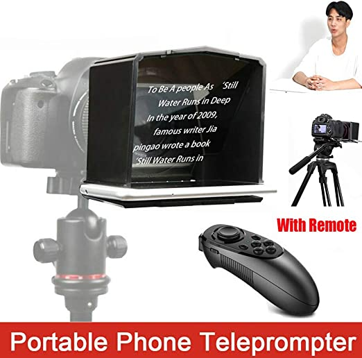 Portátil Teléfono Teleprompter,Teleprompter con 8 Lente Adaptador ...