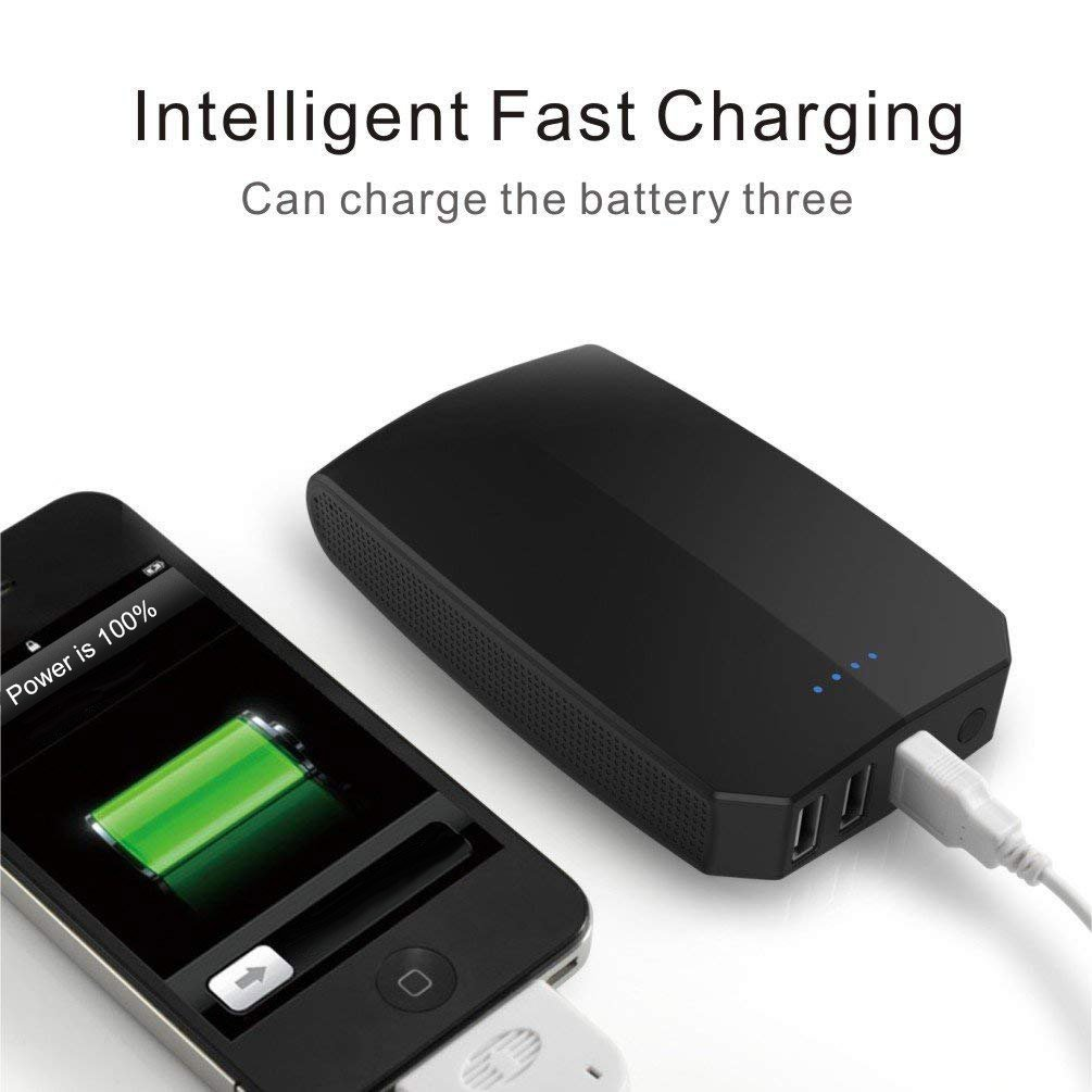 AIRGINE A-16 External battery Power bank Portable Charger Powerbank 1 pack-Black by AIRGINE (Image #6)