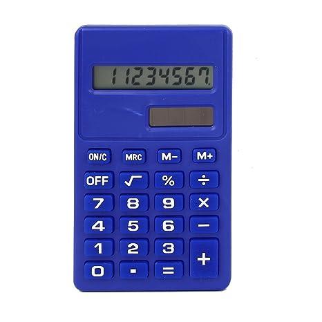 Amazon.com : eDealMax Oficina Pantalla LCD Pequeño científico de la calculadora electrónica Azul : Office Products