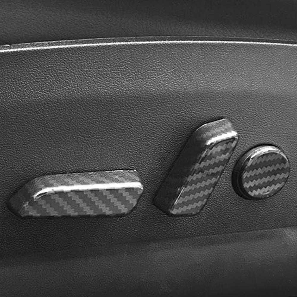 6 teile//satz Auto ABS Innenraum Sitz Kontrollen Knopfabdeckung Trim f/ür Tesla Modell 3 Kohlefaser Stil Zubeh/ör Einstellschalter