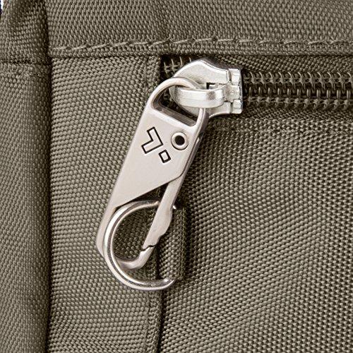 Classic Theft Crossbody Bag Black E Nutmeg w Small Travelon Anti wFqPEP4