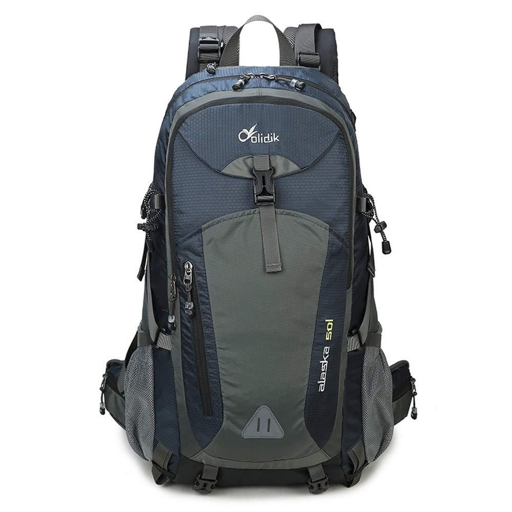 Upgraded version bleu 60 LIUQI-Hikingsac à dos Sac de randonnée en Nylon de Grande capacité pour Le Sac à Dos d'alpinisme en Plein air pour Hommes et Femmes