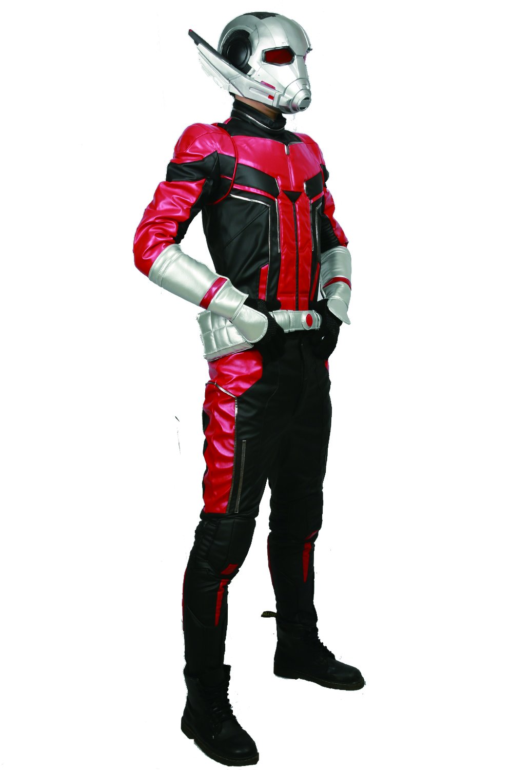 xcoser Ant Man Costume with Helmet Deluxe PU Cosplay Outfit Belt Gloves Full Suit Halloween Custom Made