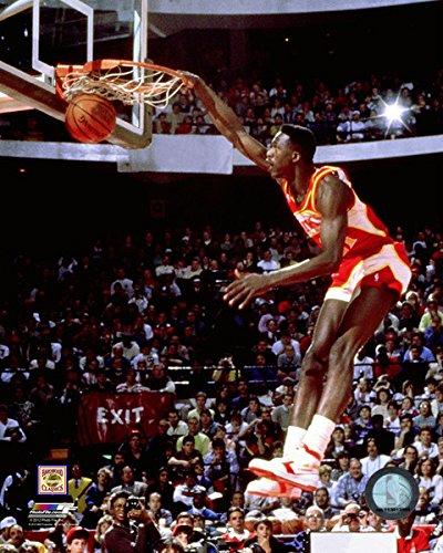 (Dominique Wilkins Atlanta Hawks NBA Action Photo (Size: 8