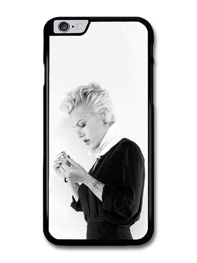 P!nk Black & White Portrait Popstar Singer Pink carcasa de ...