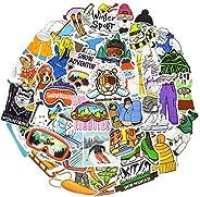 Ski Stickers for Snowboard Stickers Ski Helmet Stickers Vinyl Skiing Stickers for Kids Waterproof Snowboarding