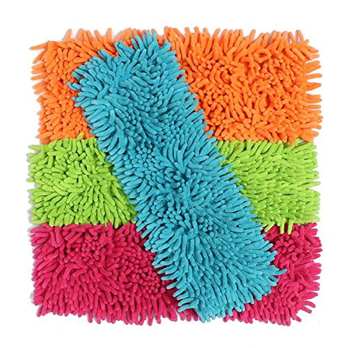 Handy Chenille Microfiber Mop Heads Flat Replacement Dust Floor Home Refill Household Mop Head Clean(Random: Color)