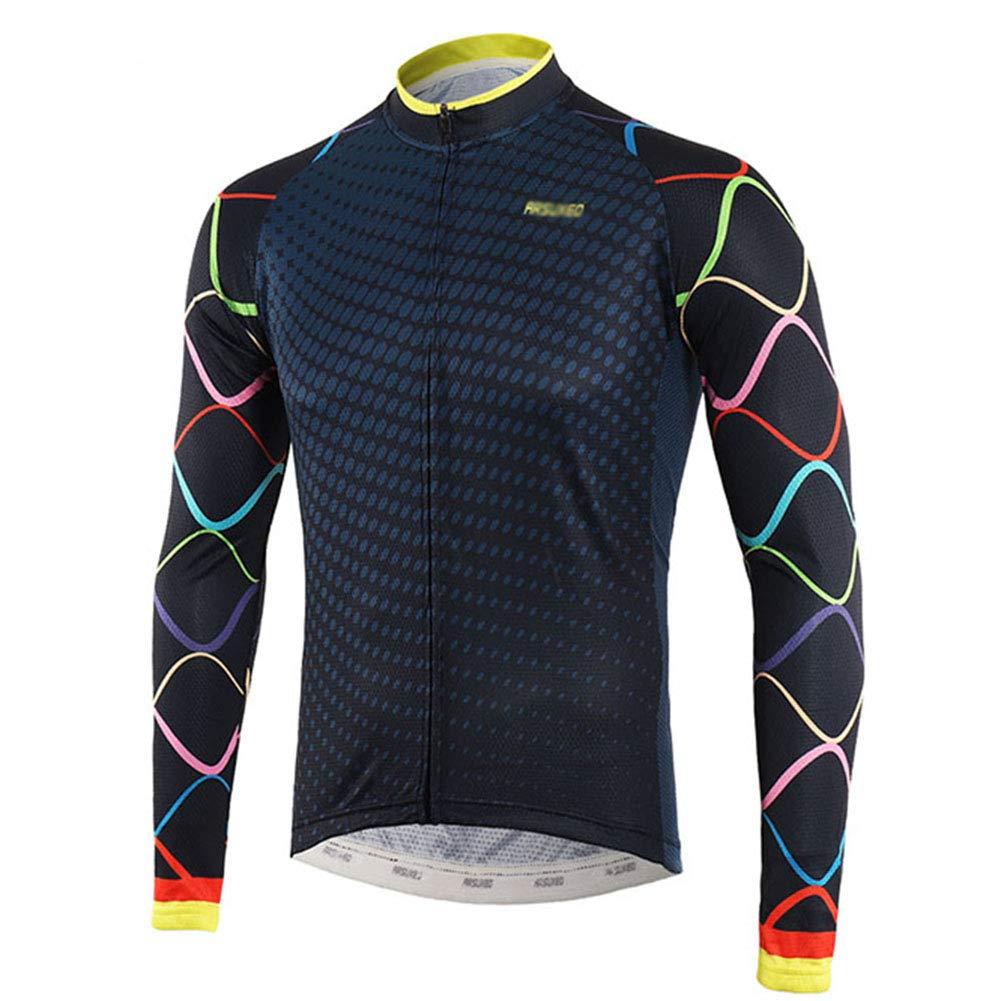 ZXCV Herren Radtrikot Langarm MTB Jersey-Fahrrad-Hemd Frühlings-Sommer-Fahrrad-Kleidung Quick Dry