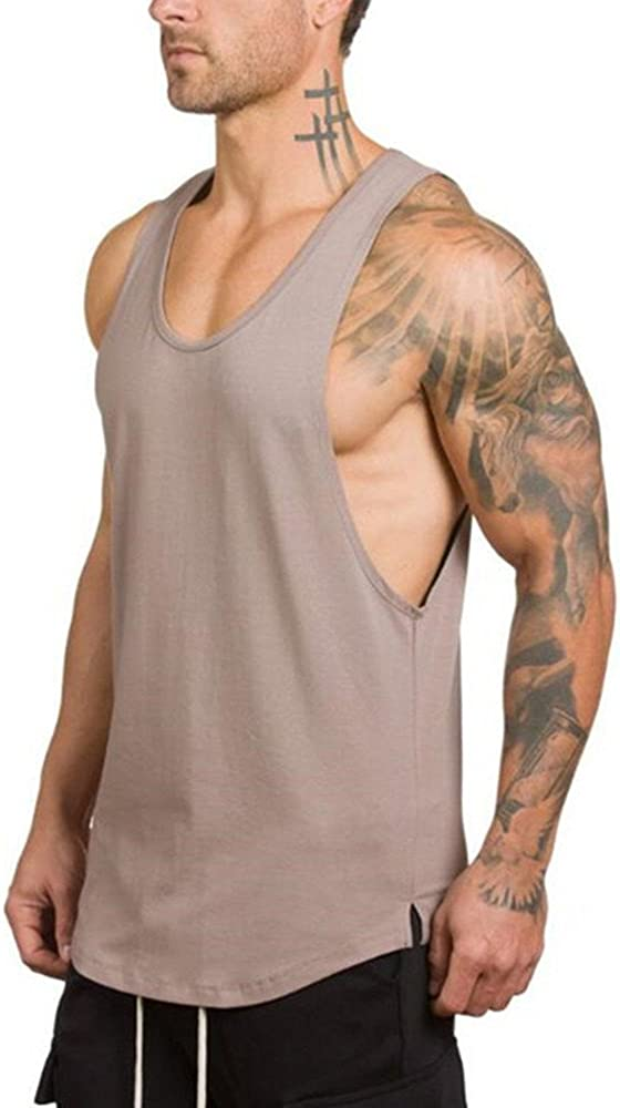 Liraly Boys Gyms Fitness Tank Tops Muscle Sleeveless Singlet T-shirt Vest For Men 2019