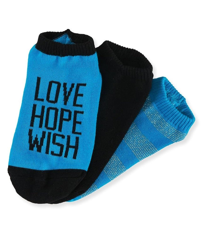 Aeropostale Womens 3 Pack Basic Lightweight Socks