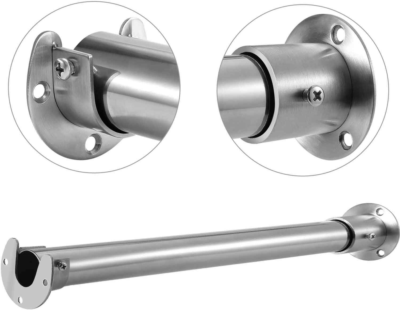 Easy Installation /& Quick Removal(4pcs//1.26 Diameter ) Easy Installation /& Quick Removal/(4pcs//1.26 Diameter /) Md trade Flange Rod Holder Heavy Duty Flange Set for Closet Stainless Steel Pole Rod Socket
