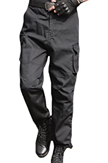 aa101aa3a3b Men s Outdoor Casual Loose Multi Pocket Cargo Pants Solid Military ...