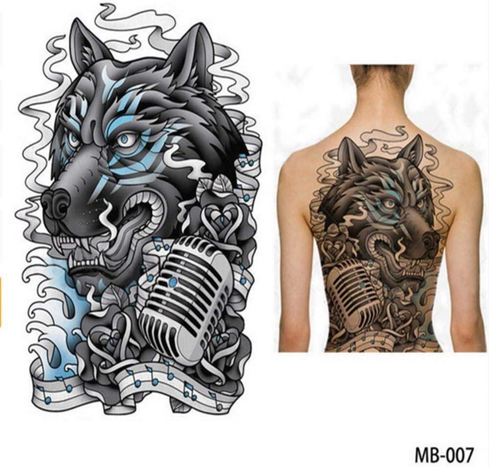 tzxdbh 2 Unids-Big Large Back Back Pecho Tatuaje Grande Tatuaje ...