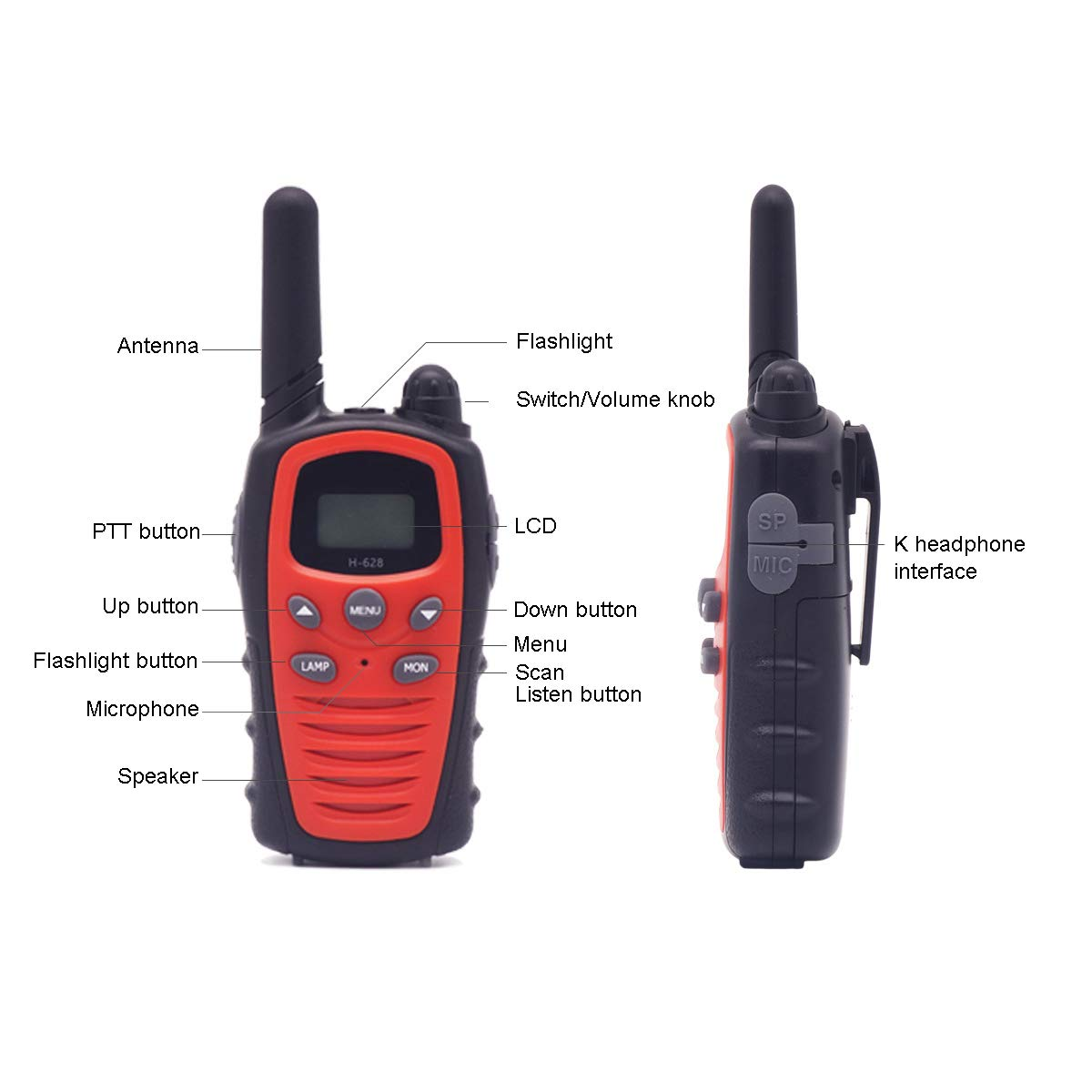 Banbu Toys for 3-12 Year Old Boys, Teen Girl Gifts, Walkie Talkies for Kids Teen Boy Gifts Birthday,Red by Banbu (Image #6)