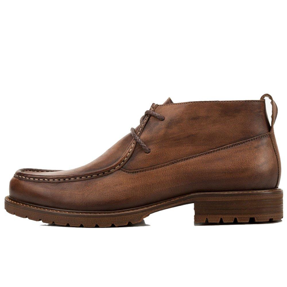 ZPJSZ Männer Vier Jahreszeiten England Stiefelies Mode Jugend Spitze Lederstiefel