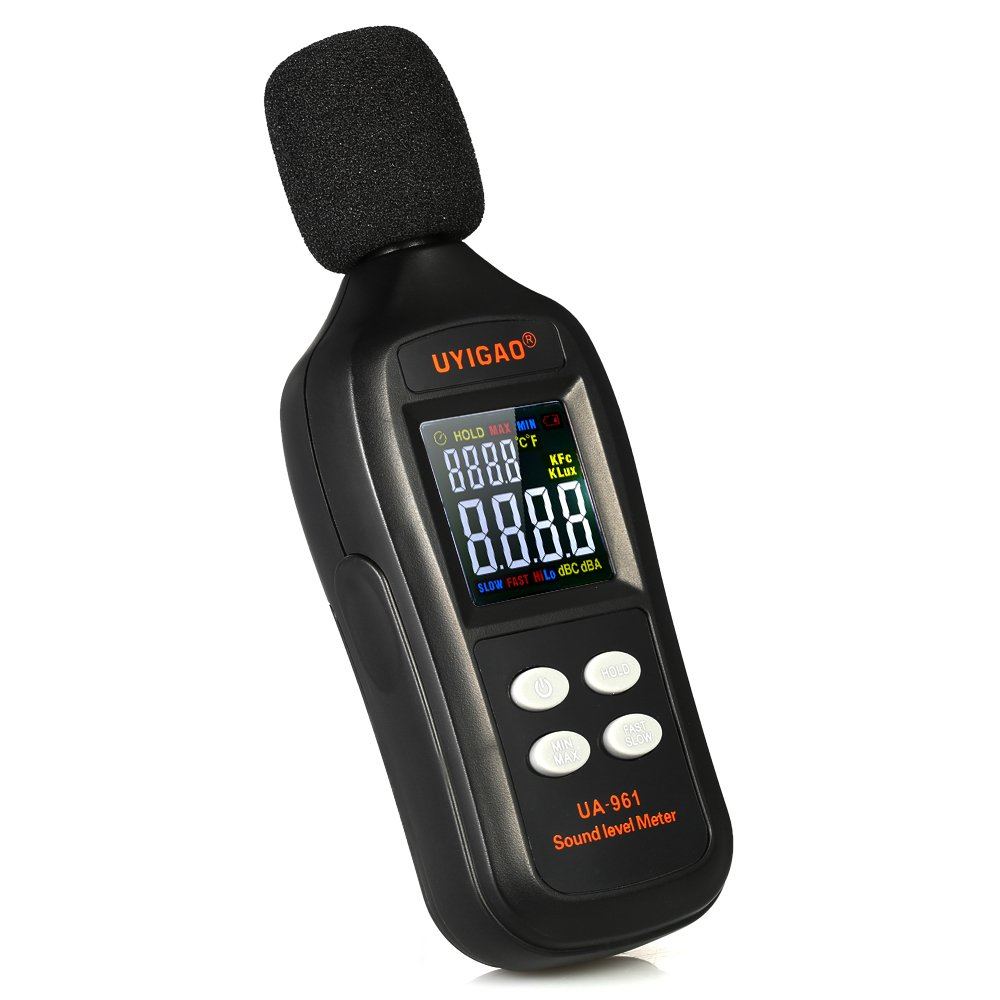 Sound Level Meter Digital Audio Decibel Meter Noise Level Meter Sound Monitor dB Meter Noise Tester Measuring 35 to 135 dBA MAX Data Hold with Color LCD Display by BDMETER