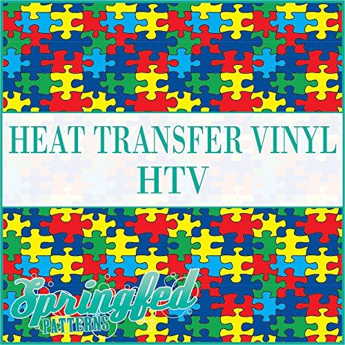 AUTISM PUZZLE PATTERN HTV Puzzle Pieces Heat Transfer Vinyl 12x14 HTV for Shirts FBA