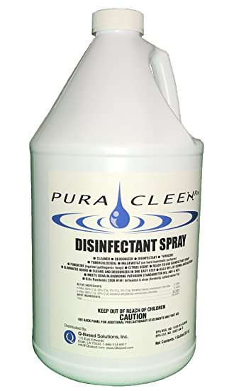 Pura Cleen Rx Disinfectant Spray Kills Bacteria Fungus And Virus S Hospital Strength 128 Oz