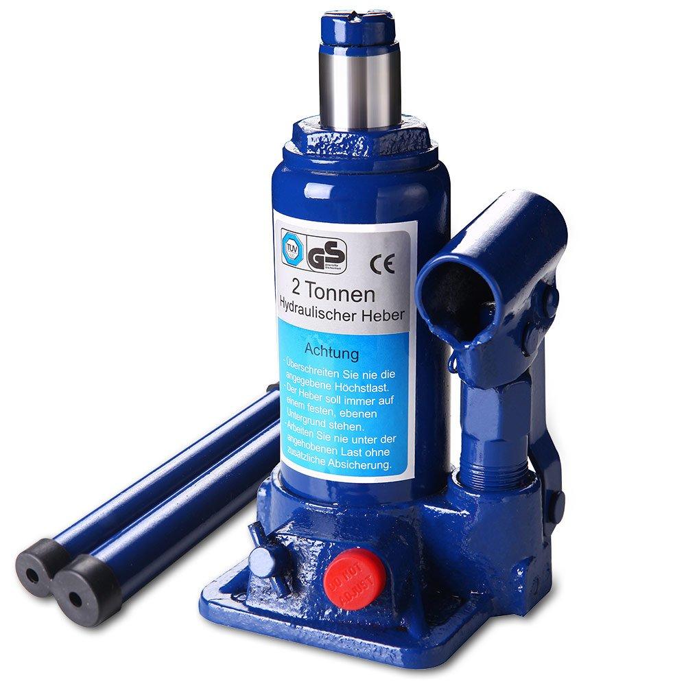 lux.pro] Wagenheber (2 Tonnen Stemmkraft) hydraulisch / Zylinderkopf ...
